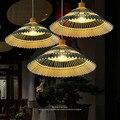 Antique lampe à suspension bambou hôtel salon lampes asie du sud-est bambou thé maison salon restaurant suspension mx5201052