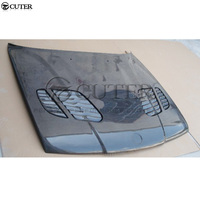 E34 5 series Carbon Fiber Front engine Hood Bonnets engine Covers with vents for BMW E34 525i 1988 1995