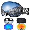 Мужские и женские зимние спортивные лыжные очки  очки для сноуборда с защитой от ультрафиолета 400  двойные линзы  маска для катания на конька...