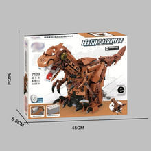 Remote Control Series 7108/7109 Electric Panda / Tyrannosaurus Assembled Building Blocks Educational Toys 424pcs