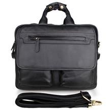 RUNNINGTIGER men's briefcase Genuine Real Cow Leather men messenger bags business men bag Tote travel shoulder laptop bag