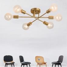 Modern personality 6 Heads Ceiling Light Nordic Creative Multiple lever metal E27 Lamp for Foyer Bedroom Restaurant Bar