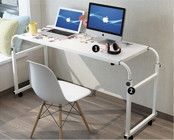120*45CM Portable Bedside Notebook Table Mutil-Purpose Rremovable Computer Desk Lazy Laptop Desk Children Study Desk With Wheels 120 45cm portable bedside notebook table mutil purpose rremovable computer desk lazy laptop desk children study desk with wheels