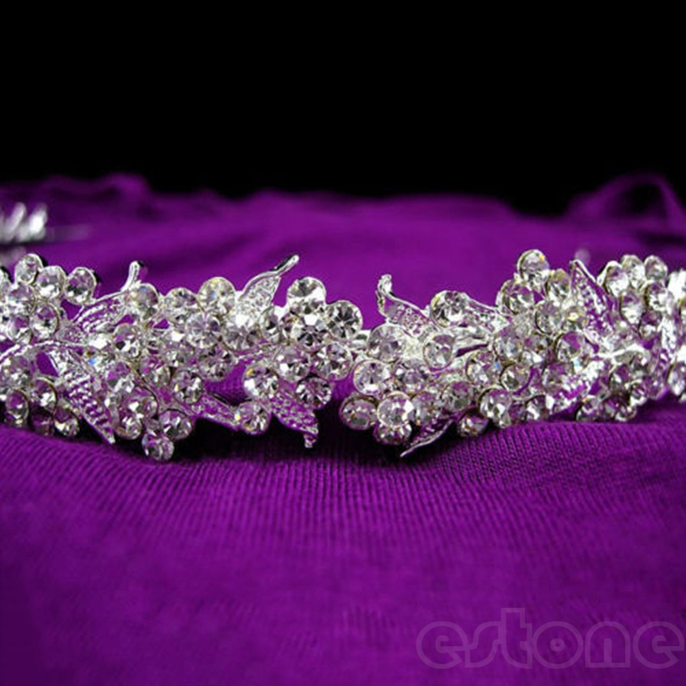 Hot Mode Menakjubkan Sekejap Penuh Kristal Bunga Daun Pernikahan - Perhiasan fashion - Foto 4
