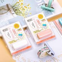 Washi Paper Tape Cutter Literature Art Mini-makaron Portable Grille Clip Tape Dispenser Tool Adhesive Tape Holder