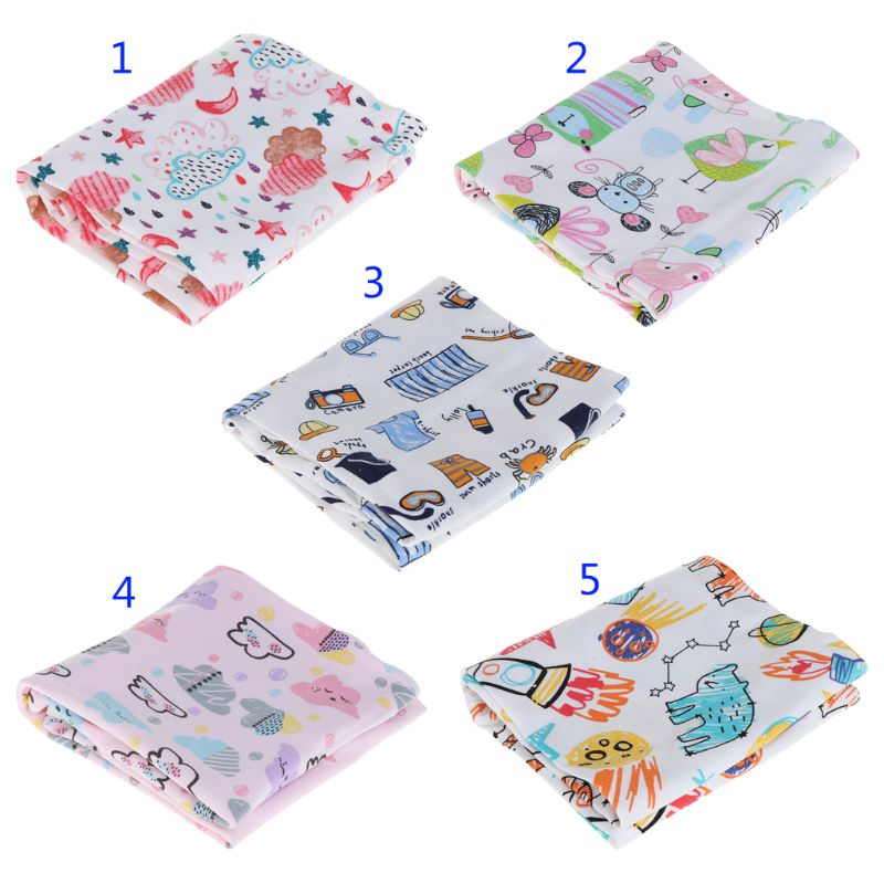 Baby Swaddle Cartoon Print Cute Bathing Sleeping Quilt Blanket Hooded Bathroom Coat Jacket Cover Kids Children Newborn Wrap Soft