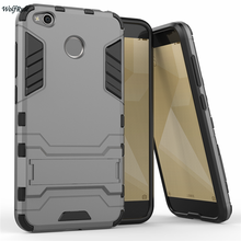 hot deal buy wolfrule cover for xiaomi redmi 4x case silicone & plastic stand anti-knock cover for xiaomi redmi 4x case redmi 4x case 5'' <