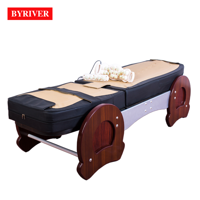 BYRIVER Therapy Center Healthcare Massage Bed Beauty Spa Relaxation Table Full Body Massager 9 4 roller