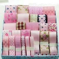 High quality pink series grosgrain ribbon set diy girl hair accessories material accessories kit to diy hair bow ribbon