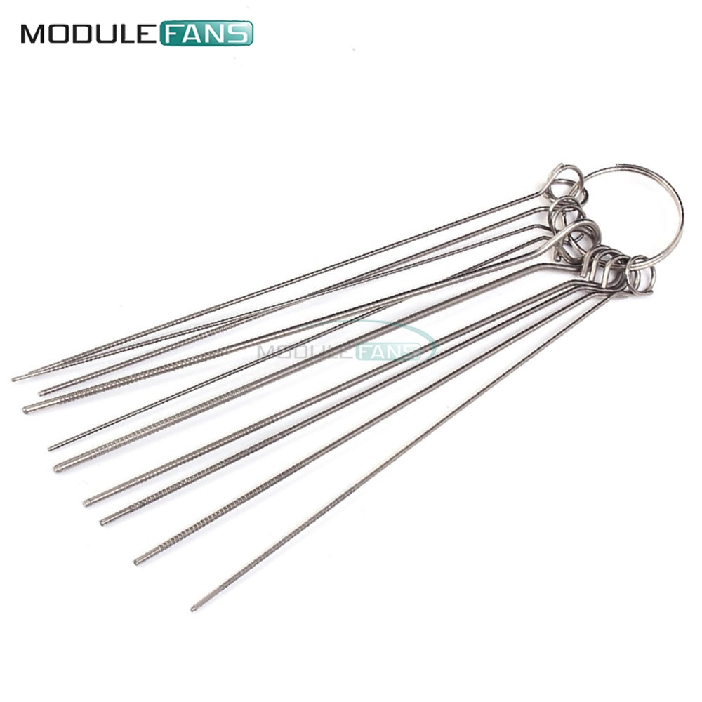10 kinds stainless steel needle set pcb electronic circuit through hole needle desoldering