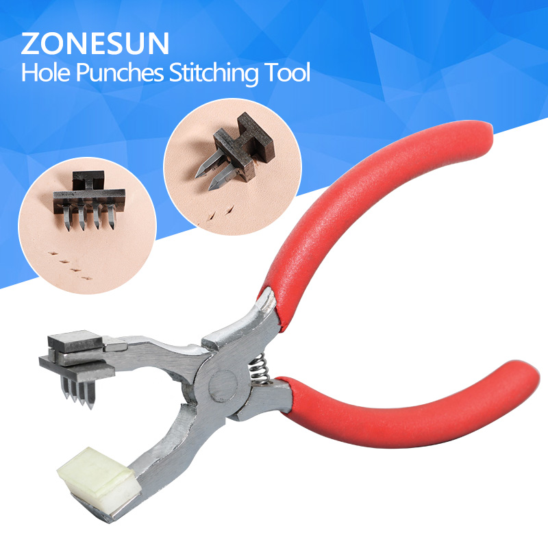 ZONESUN Portable Leather Seam Machine Handheld Pliers DIY Hole Punching Stitching Tool for sale платье seam seam mp002xw18uic