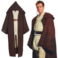 Star Wars Costume Jedi Cloak Tops Pants Cosplay Men Suit Movie Cosplay Costumes Star Wars Full Costume S-XXL