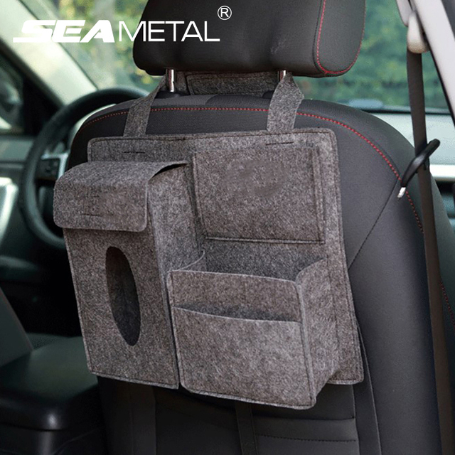 Car Seat Back Bag Organizer Storage Auto Travel Stowing Tidying Pocket Universal Drink Tool Bags Phone Holder on Car Accessories