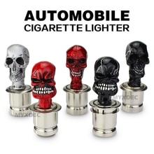 Encendedor de cigarrillos para el coche, diseño de calavera y huesos cruzados, enchufe eléctrico, calentador de humo, accesorios electrónicos para el coche, enchufe de cc 12V