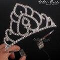 Hot Projetos Europeus Do Vintage Pente Coroa Tiara de Cristal Tiara Nupcial Do Casamento Acessórios de Strass Tiaras Coroas Pageant