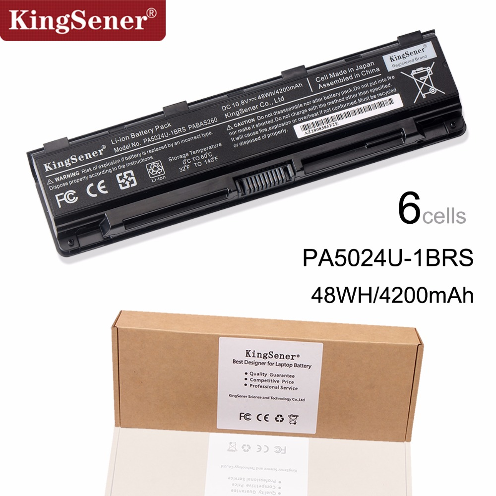 KingSener Korea Cell PA5024U Battery For Toshiba Satellite C800 C850 C870 L800 L830 L850 L855 L870 PA5025U PA5024U-1BRS PABAS260 sheli v000275560 laptop motherboard for toshiba satellite c850 c855 l850 l855 6050a2541801 uma hd 4000 hm76 main board works