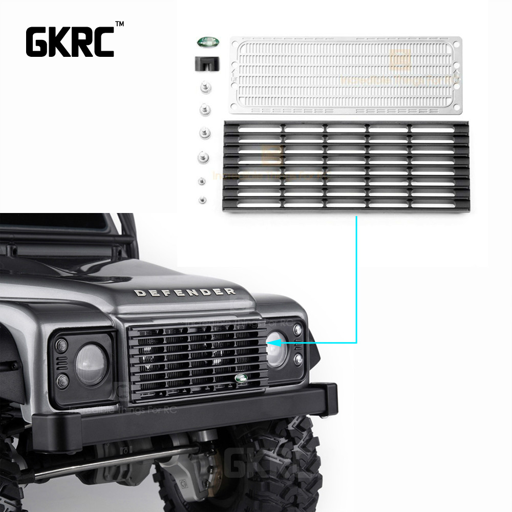 Aluminum Alloy Front Inlet Grille Metal Cooling Grid For 1 10 Rc Crawler Car Traxxas Trx4