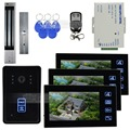 DIYSECUR 7 Inch Monitor Video Door Phone Intercom Doorbell Home Security + Remote Control + 280kg 350lb Magnetic Lock 1 V 3