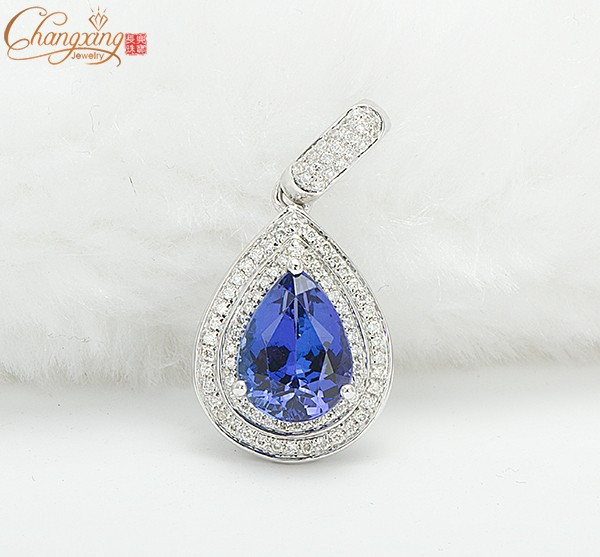 Solid 14k white gold 168ct natural blue aaaa tanzanite diamond solid 14k white gold 168ct natural blue aaaa tanzanite diamond pendant in pendants from jewelry accessories on aliexpress alibaba group mozeypictures Choice Image