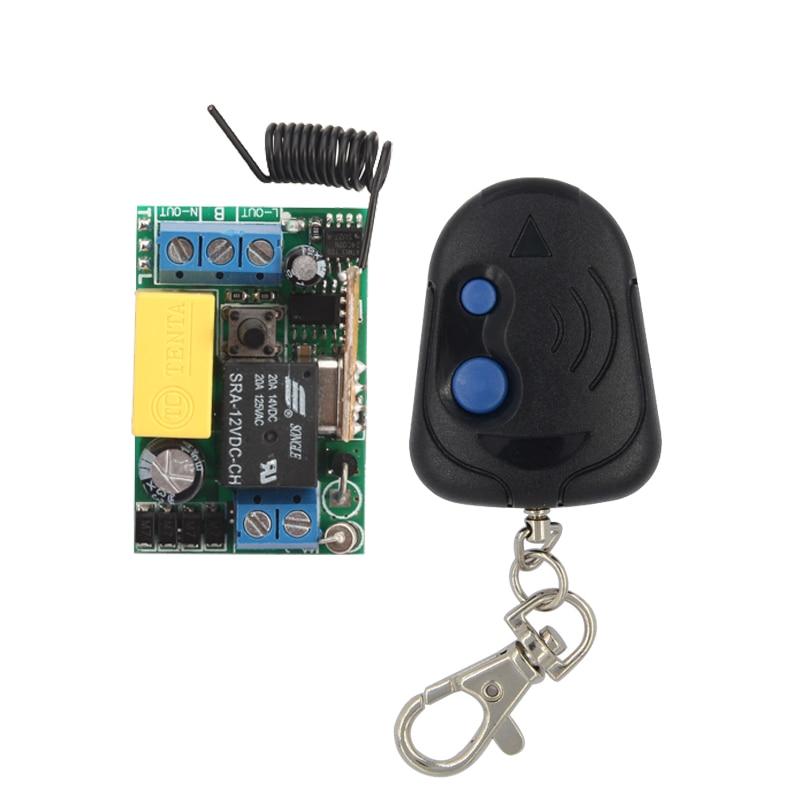 AC 220V 1 CH Mini Wireless Remote Control Switch 10A Relay Small Receiver Light Lamp LED Bulb Remote Lighting Switch 315 433.92 my2n j mini relay relay block ac 220v