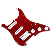 MSOR Loaded Prewired Pickguard for Electric Guitar—Red