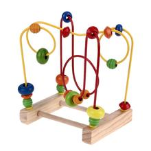 Colorful Wooden Math Bead Funny Toys Wood Early Educational Toy Toddler for Children Intelligence Differentiation Development