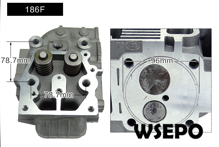 Top Quality! Cylinder Head Assy(with Valves/Springs) for 186F 9HP Air Cooled 04 stroke Diesel Engine,5KW Diesel Generator Parts chainsaw piston assy with rings needle bearing fit partner 350 craftsman poulan sm4018 220 260 pp220 husqvarna replacement parts