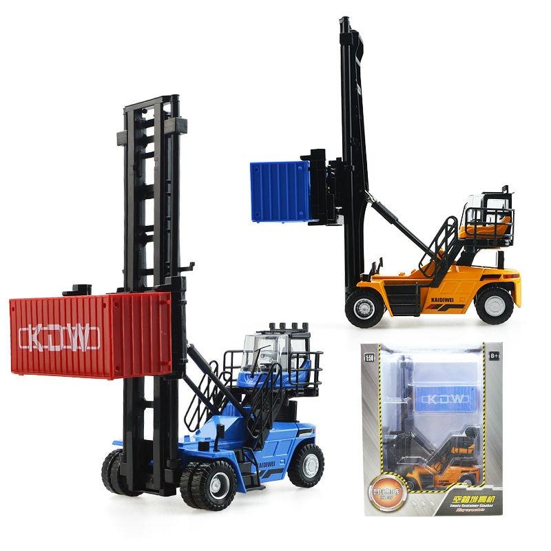 De aleación de vehículo de ingeniería contenedor de machinesimulation juguete de los niños modelo 1:50 Navidad Año nuevo chico regalo - 3
