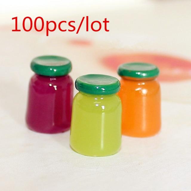 100pcs Wholesale 1:12 Dollhouse Miniature Kawaii Flatback Resin ...