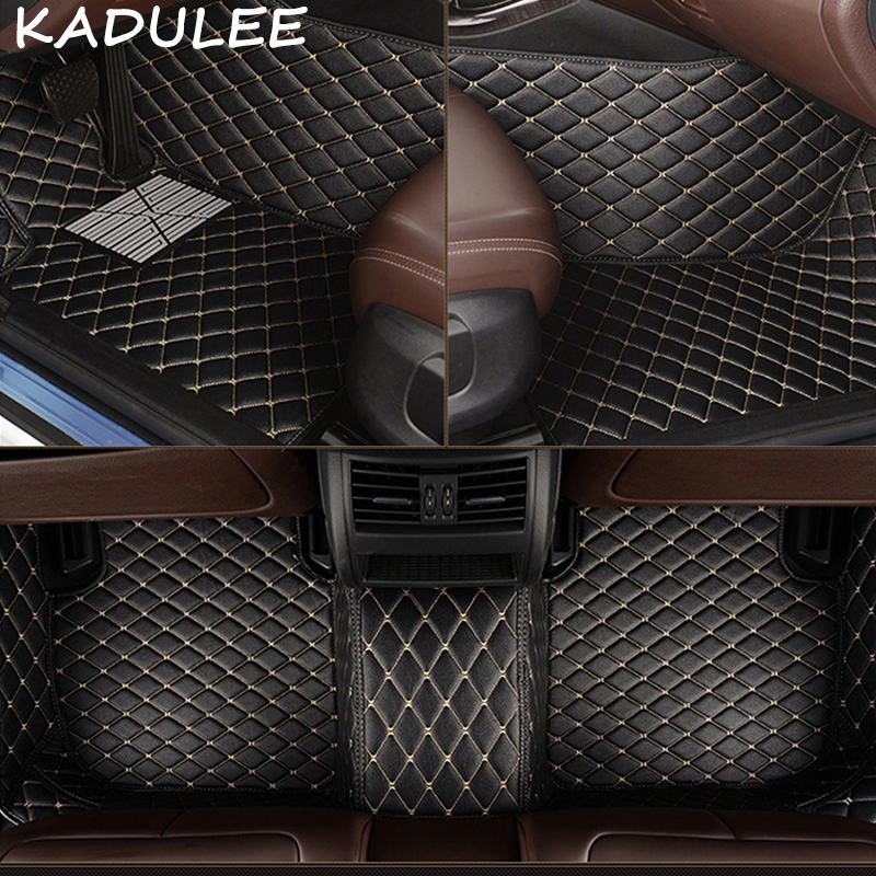 KADULEE PU leather car floor mats for <font><b>Acura</b></font> <font><b>TL</b></font> 2006 2007 2008 <font><b>2009</b></font> 2010 2011 2012-2018 Custom foot Pads automobile carpet cover image
