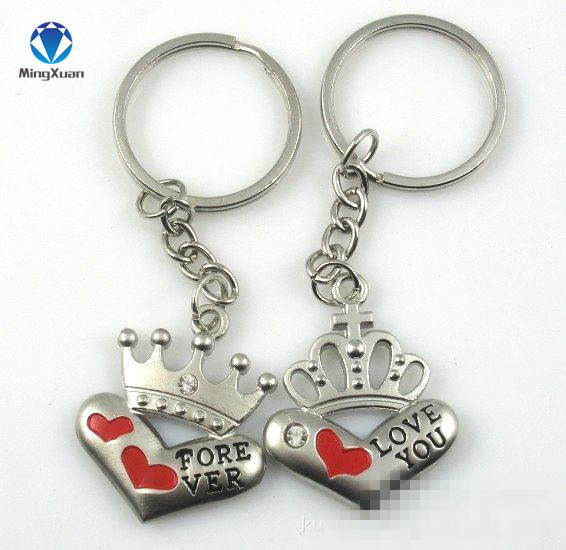 d778ad188f 1Pair Couple Keychain Crown Key Ring Silver Plated Lovers Love Key Chain  Souvenirs Valentine's Day gift C379-in Key Chains from Jewelry &  Accessories on ...