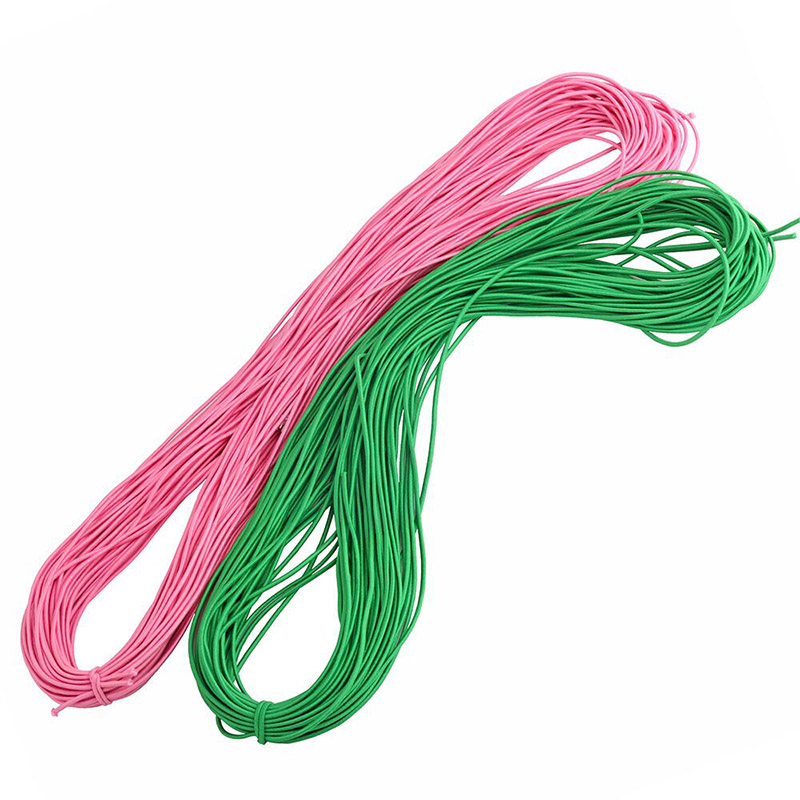 5m lot 2mm Colorful High Quality Round Elastic Band Round Elastic Rope Rubber Band Elastic Line DIY Sewing Accessories in Elastic Bands from Home Garden