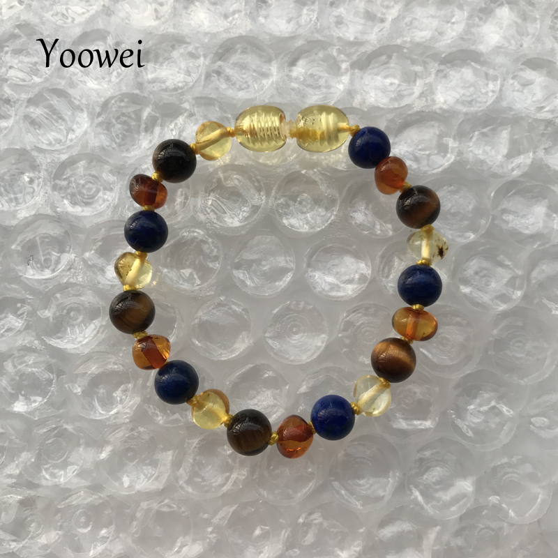 HTB15IowfCfD8KJjSszhq6zIJFXaw Yoowei 9 Color Baby Amber Bracelet/Necklace Natural Amethyst Gems Adult Baby Teething Necklace Baltic Amber Jewelry Wholesale