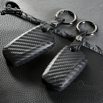 Carbon Fiber Silica gel Car Key Case Shell Modified Shell Protection For Bmw e30 e34 e36 e39 e46 e90 e60 f10 f30 f20 Accessories image