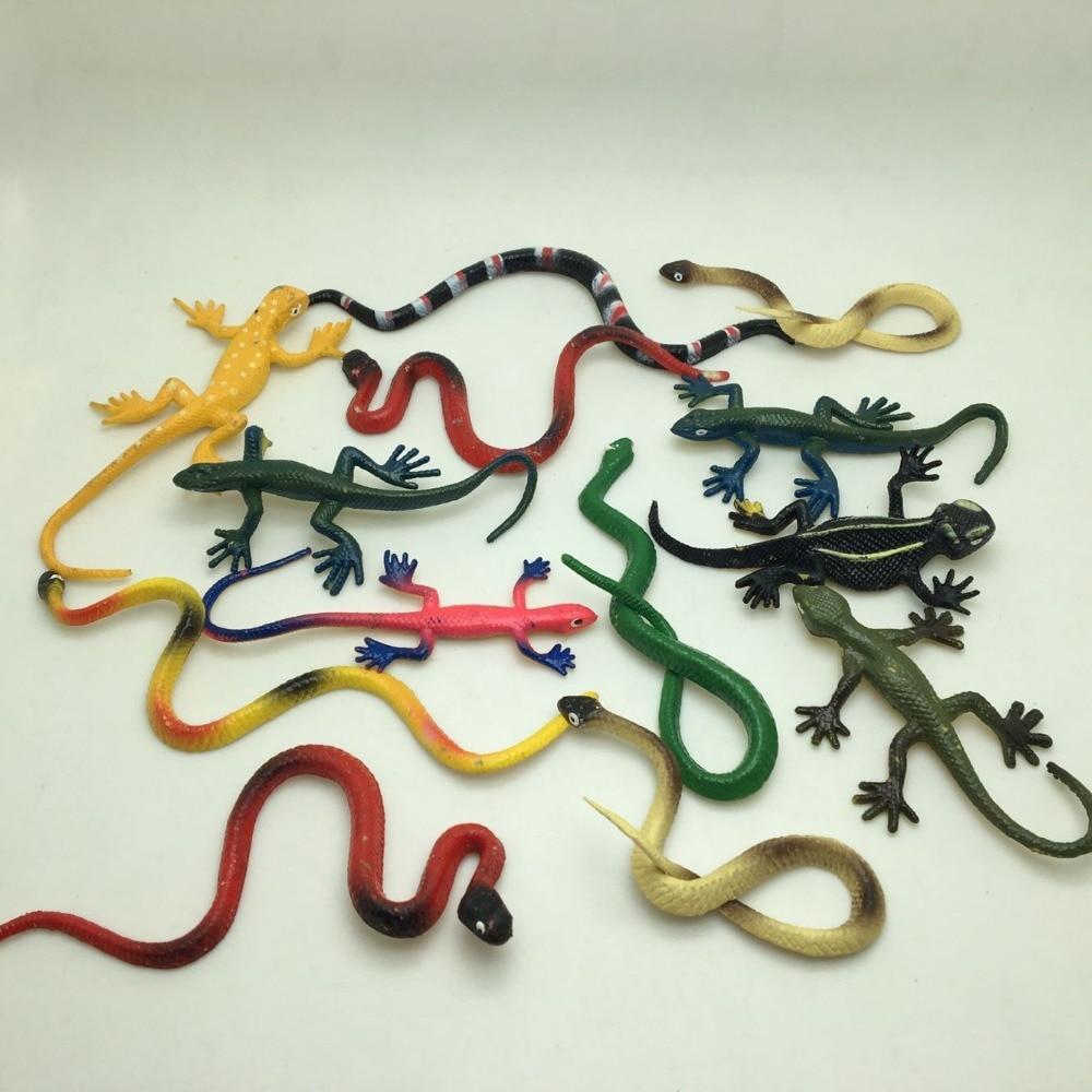 20 UNIDS / LOTE serpiente de plástico pvc lindo y gecko Mix - Nuevos juguetes y juegos - foto 2