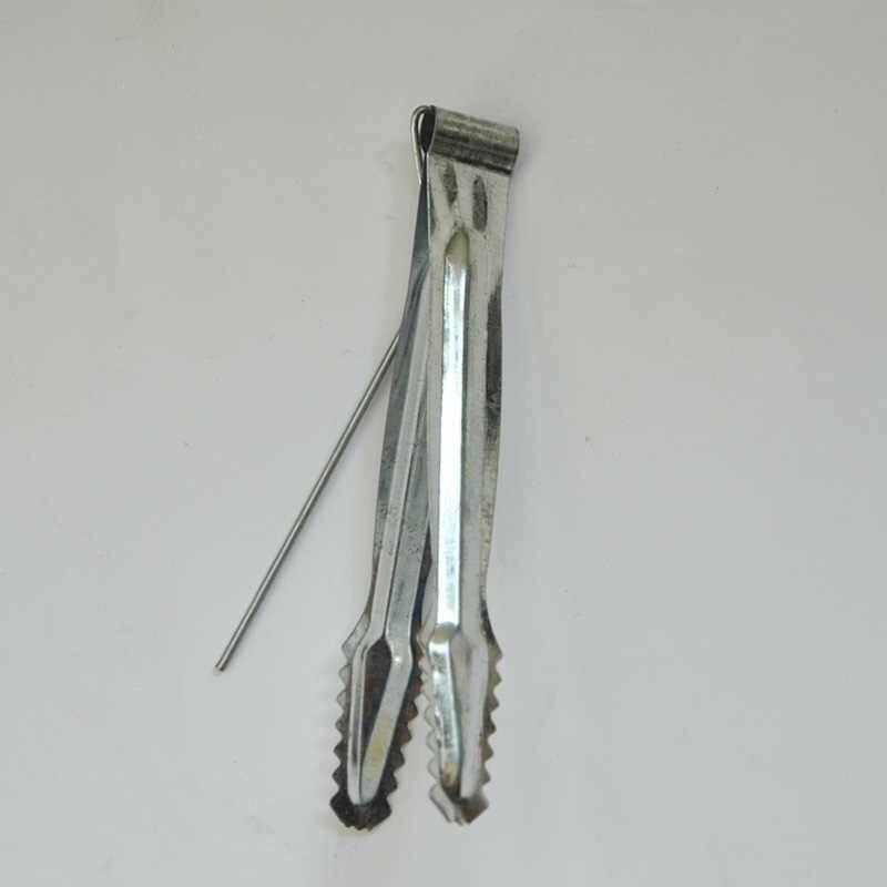 115 ملليمتر المعادن الشيشة النرجيلة الفحم ملقط الفحم مقاطع قفل ملقط مصنوعة من الفولاذ المقاوم للصدأ مع احباط لكمة مسمار
