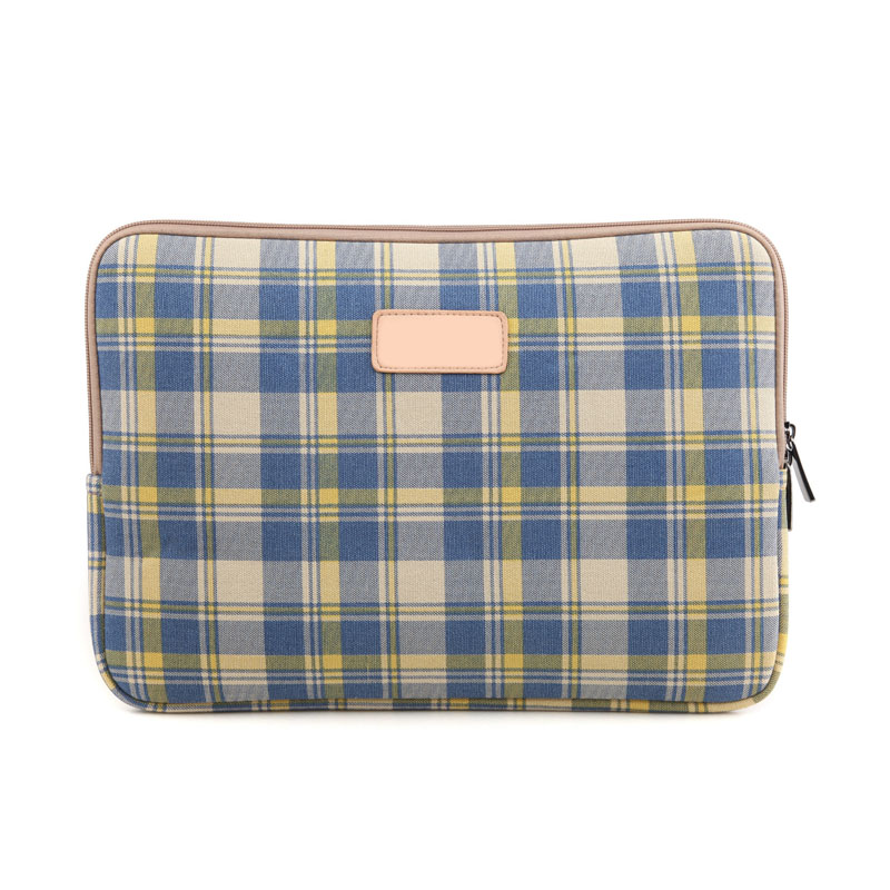 12/13/14/15.6 Inch Laptop Bag Checked Stripe Zipped Table Sleeve Case Notebook Computer Cover For Dell HP Asus Lenovo QJ