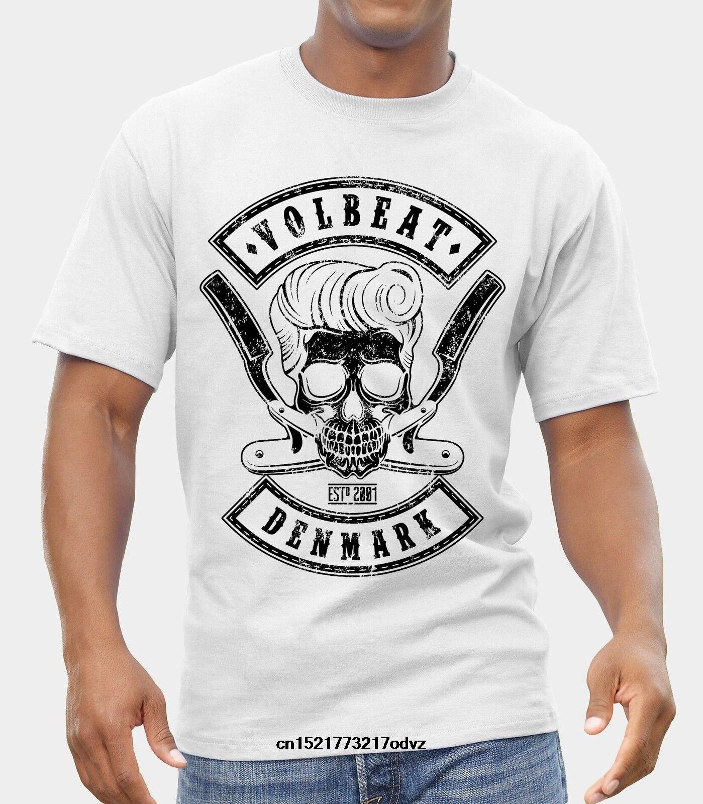 VOLBEAT Skull Men Black T-shirt Rock Band Fan Tee Shirt Gift