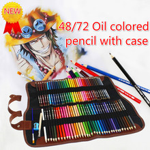 48/72Colors Wood Colored Pencils Set Sketching Drawing Kit Pencil Case Bags Lapis De Cor Artist Painting For School Art Supplies