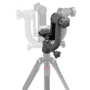 Image 5 - Berufs Schwere Metall Gimbal Kugelkopf 360 Panorama Stativ Ball Kopf Für Tele Objektiv DSLR Kamera