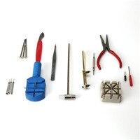 16 Piece Watch Repair Kit Set Wrist Strap Adjust Pin Tool Kit Back Remover Fix F2058