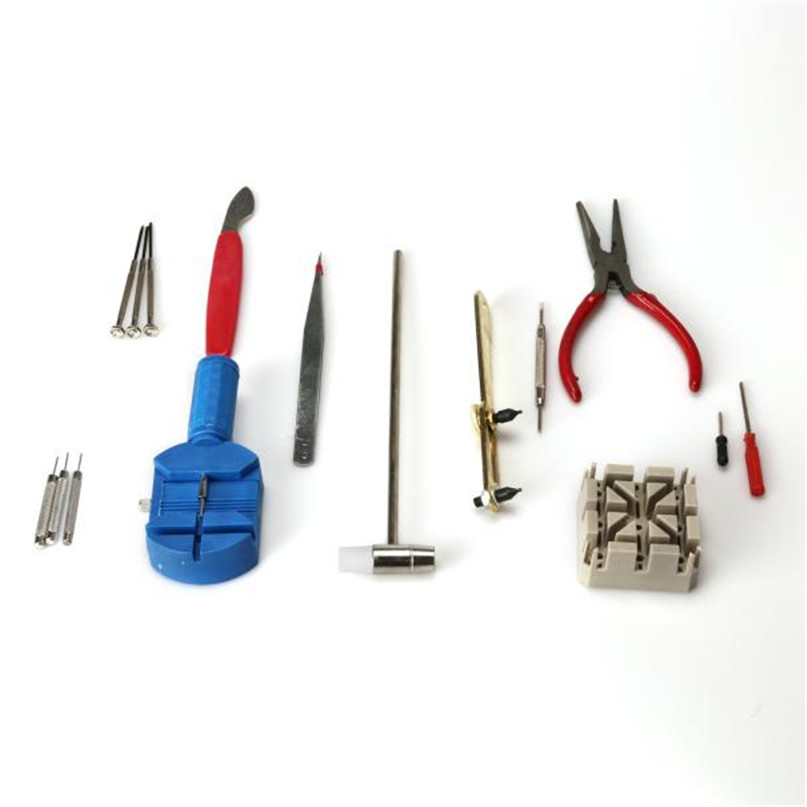 Watch Repair Kit | 16 Piece Watch Repair Kit Set & Wrist Strap Adjust Pin Tool Kit Back Remover Fix F2058