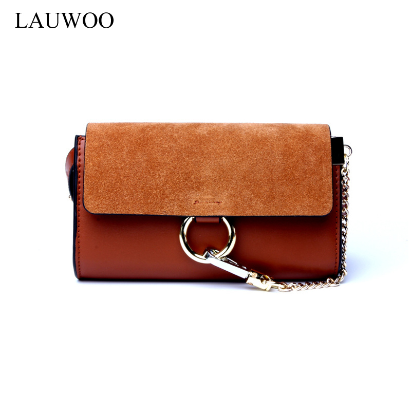 LAUWOO fashion brand women real cowskin Mini Crossbody bags Small Women Genuine Leather Organ Bag girls vogue cloe Bag Bolsas mini women crossbody bags small women