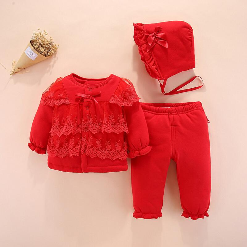 cff0fbe77d9c Newborn full moon female baby winter suit 0 1 year old female baby ...