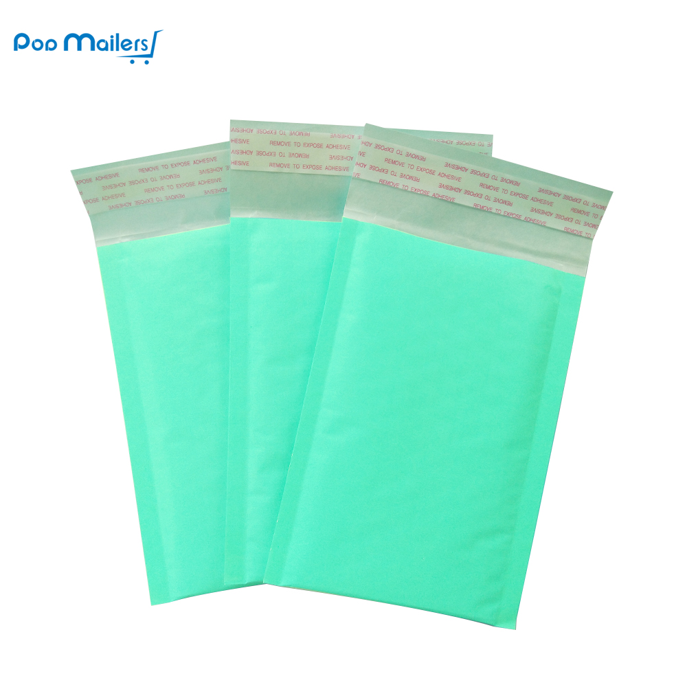 10pcs 4x7 Inches 12x18cm Kraft Bubble Mailing Mailer Shipping Padded Envelope Bags Teal Shockproof Courier Bubble mailer in Paper Envelopes from Office School Supplies