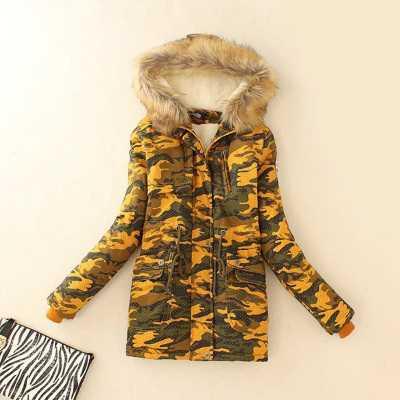 ФОТО New 2015 Women Fur Hooded Lambwool Wadded Parkas Fashion Winter Coat Women Thicken Cotton Overcoat Jacket H5953