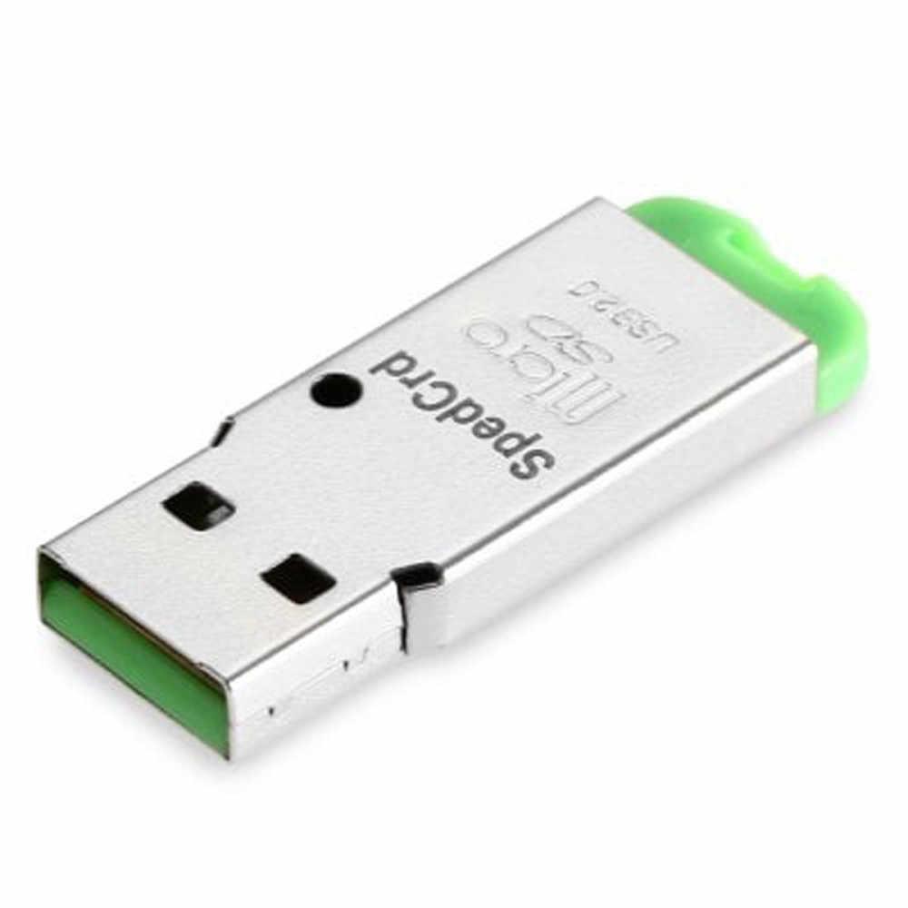 قارئ بطاقات بسيط وصغير منفذ واحد عالي السرعة USB صغير 2.0 ميكرو SD TF T-Flash ذاكرة محوّل قارئ البطاقات منفذ USB