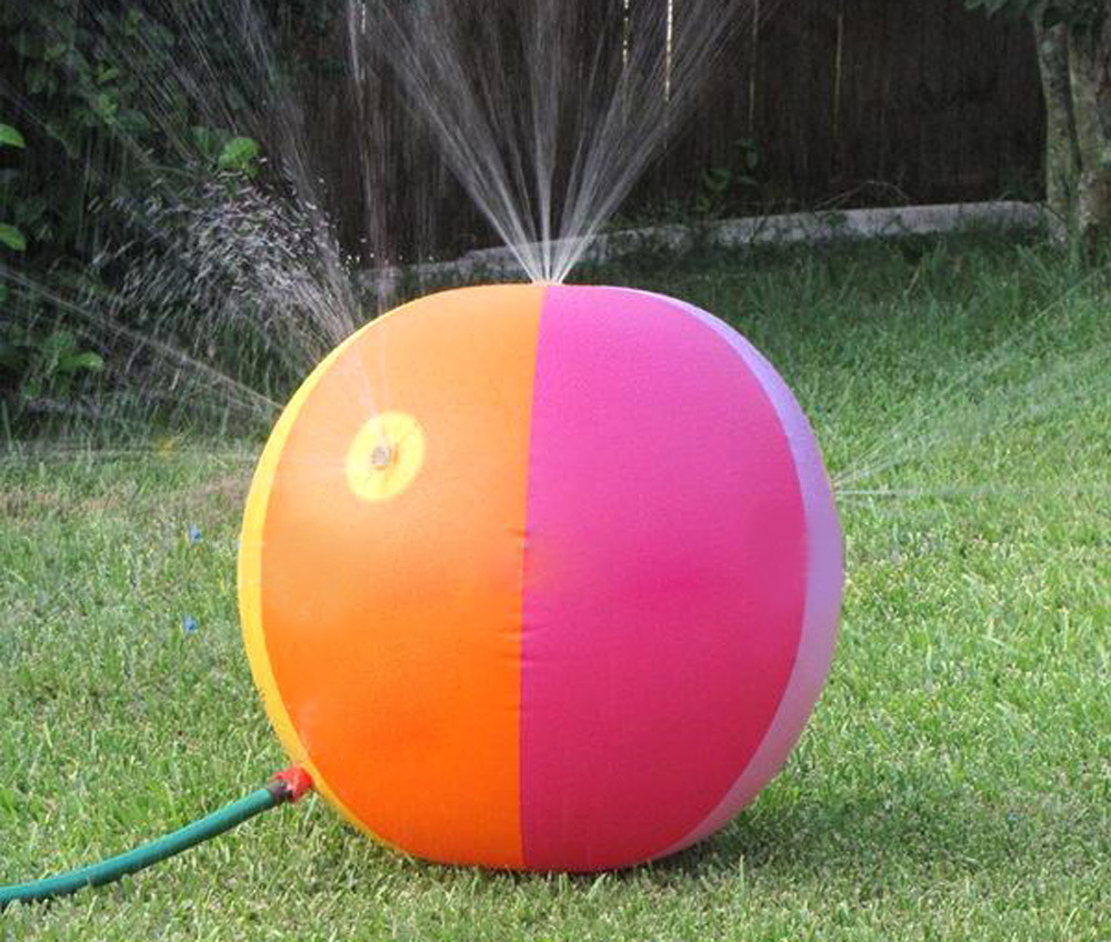 Children outdoor inflatable toys water spray ball 75cm Childrens swimming beach playing water polo