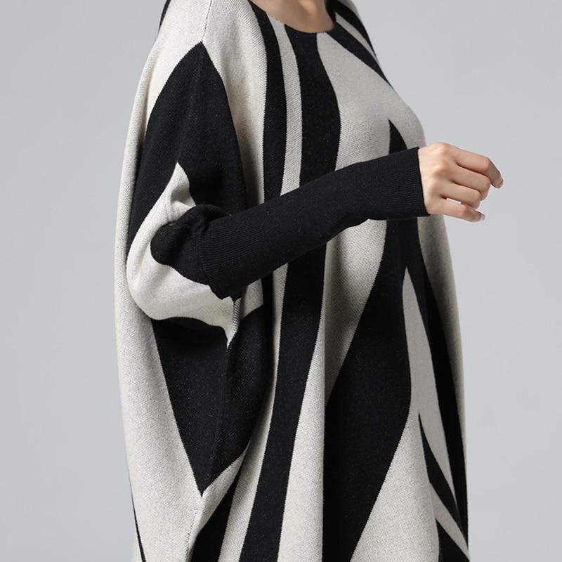 Осень И Зима низкий шею пальто мыса хеджирования женщин битой шаль свитер пальто дамы бахромой свитер тенденция плащ