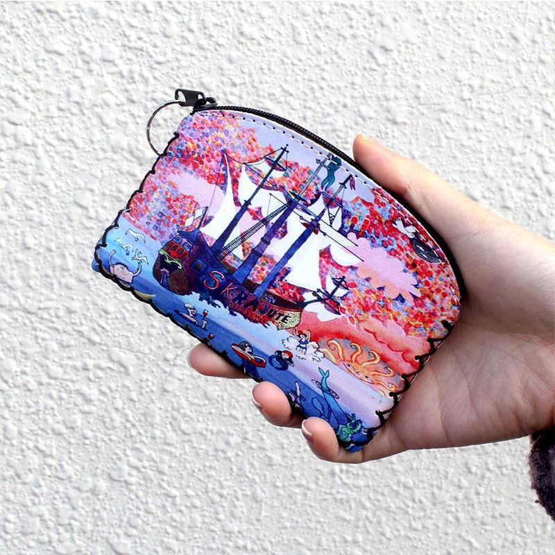 Hot Korean High Quality Lipstick eyeshadow Mini Cosmetic bag Cartoon Popular Storage Holder Vintage Wallet